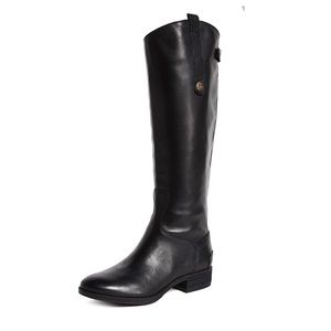 Sam Edelman Penny Riding Boots Black Leather 7.5